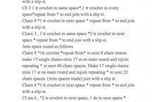 Patterns / Crochet, Knit etc