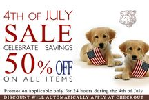 4th of JULY SALE celebrate savings 50% of on all items / Promotion applicable only for 24 hours during the 4th of July