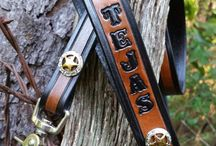 Texas Dog Collars & Leashes / Our Texas dog dollars with a cause! If you are a Lone Star State Fan, these are a must have! Hand crafted, heavy duty-, personalized leather dog collars & leashes by Behind The Wire Shop in Huntsville, Texas.