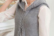 Knitting vests