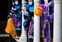 Venezia la città dell'arte / Il Carnevale di Venezia, Commedia dell'arte, maschere ecc.