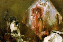 Жан Батист Симеон Шарден (Франция, 1699−1779 гг.) / В Академии уравновешенный и глубоко порядочный Шарден сделает карьеру: в разные годы он получал хорошие должности — советника, казначея. Но на путь академического искусства Шарден так и не встал. От натюрморта он переходит к жанровым сценам и портретам и именно этим, пожалуй, обессмертит своё имя в искусстве. Впервые благодаря Шардену на сцену французской живописи выходит мелкая буржуазия, «третье сословие». И не просто выходит — а громко заявляет свое законное право на признание.