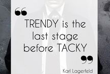 Karl Lagerfeld/with quotations