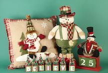 Red and Green Christmas / Nestled away in a cosy countryside cottage is a living room filled with the joy and festivity of Christmas past. Warm and inviting, the traditional red and green theme is a timeless look for Christmas. Featuring Father Christmas designed ceramic pieces, snowman salt and peppers and Holly leaf embellishments, this is a wonderful range to keep your Christmas 'merry and bright'.
