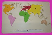 mapy kontinenty
