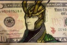 Money Art / #art #money #marvel #film #pirates #heroes