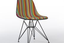 Special Edition Girard upholstered Eames Chairs / Board dedicated to special edition Eames chairs by Herman Miller covered in original fabrics designed by Alexander Girard
