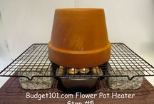 Flower pot heater
