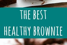 healthy food. / Brownie