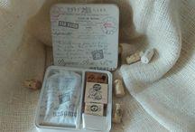 postcard stamper / vintage box with carte postale stamper