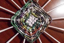 pletení z papíru - dno, víka