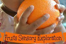 Healthy eating for kids / Assortment of sensory activites