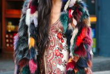 Multicolored Fur Street Style Winter Fashion ❤️