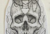skull dagger tattoo