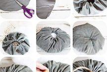 textil/ filc díszek