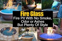 Fire Glass/Fire Pit/Gas run