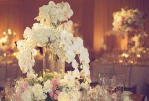 Orchid/beach wedding