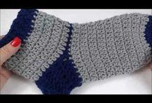 meia de crochê