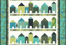 House Quilts / Houses and more houses. Lots of ideas for possible blocks in our Group Project. Lots of assembly ideas too.