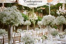 Wiązanki ślubne na stół