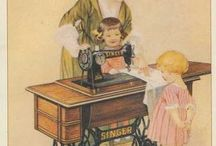 Vintage, cards, pictures