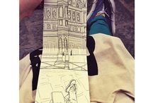 Urban Sketching in Firenze / Drawings from my time in Florence, Italy. From September 2013...