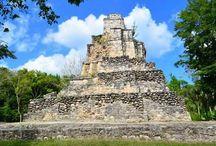 Maya - Muyil Chunyaxche / Muyil Chunyaxche, Mayan ruins located 25km south of Tulum Mexico