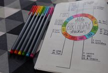 bullet journal birthday