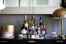 interiors | home bars and bar carts / by Glenyse