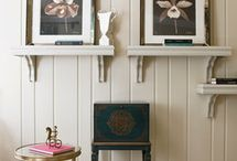 Painted wood panelling / Painted panelling in interiors