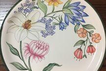 Çiçekli tabak