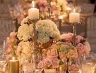 Wedding center pieces w/candles