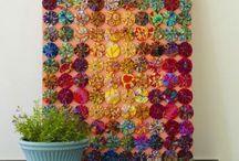 Fabric Yo-Yo's / Patterns, Tutorials & Finished Samples of Fabric Yo-Yo Art. / by Nancy Thomas