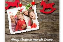 Personalised Baby Christmas greeting cards! / Personalise your Christmas greeting cards with a photo upload and a message!