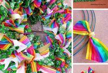 DIY st Patrick's wreath easy to make