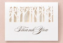 Thank you Cards / by B Wedding Invitations