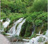 Fountaine of dreams / Poesia: Sulla collina arida e brulla i rami erano spogli e le foglie cadute...