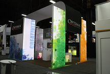 Exhibitor 2014 Display / Optima's booth at Exhibitor 2014 in Las Vegas.