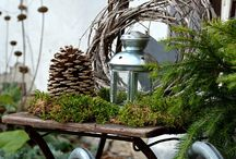 Udendørs dekoration vinter