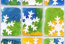 Class 10 - winter celebration art project