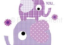 Kids Wall Decor-First we had each other print-- purple via Etsy