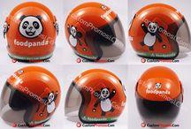 Helm Promosi / Proses pembuatan dengan biji plastik ABS GADING. Menggunakan cat yang berkualitas dan tentunya sudah SNI