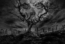 tree skulls