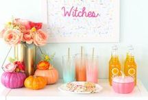 a spooky & sparkly halloween / Colorful, Sparkly and Fierce Halloween Hosting