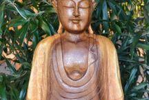 Houten Boeddha Beelden