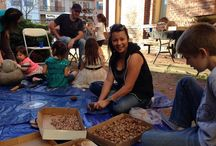 Our Story - Water is Life. Acorn workshop / Acorn preparation workshop, held on Saturday, January 31, 2015 at Old City Hall in Redding. Part of 'Our Story - Water is Life. Native Art Exhibition & Cultural Festival'.