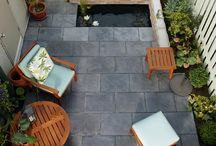 Urban Courtyards And Patios / Great examples of making the most of small spaces to create a relaxing courtyard or patio in urban homes.