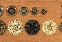 Rosette Hardware / Rosette pulls are classic. On some period originals you would find deocrative plate pulls on the upper drawers and rosettes on the lower drawers, on others there would be rosettes everywhere. Simple and elegant, rosettes work great just about anywhere. They are particularly useful on serpentine drawer fronts because the small plates allow them to easily accommodate even the largest curves.