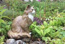 Moorside Cats / Hand built ceramic cat sculpture