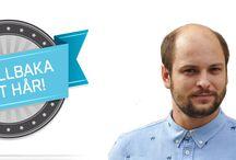 oyez / Har ditt huvud börjat bli tunnhårig? OYEZ! ger dig en helt naturlig hårman, som du är fri att styla precis som du själv önskar. SMS: 0708 67 02 77. http://oyez.se/